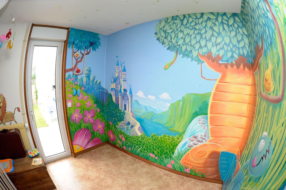 studio la vache qui meuh fresque murale. Black Bedroom Furniture Sets. Home Design Ideas