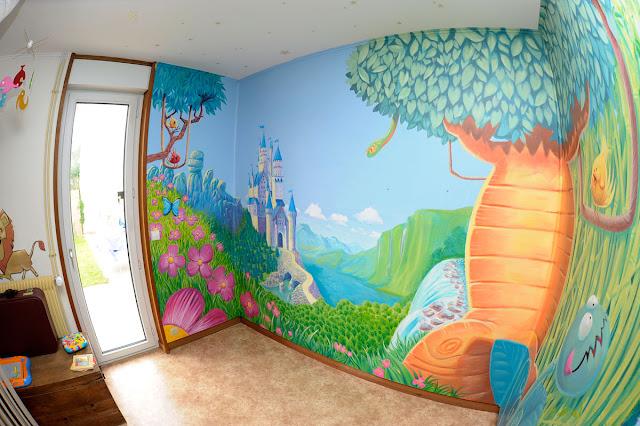 fresque chambre de fillette