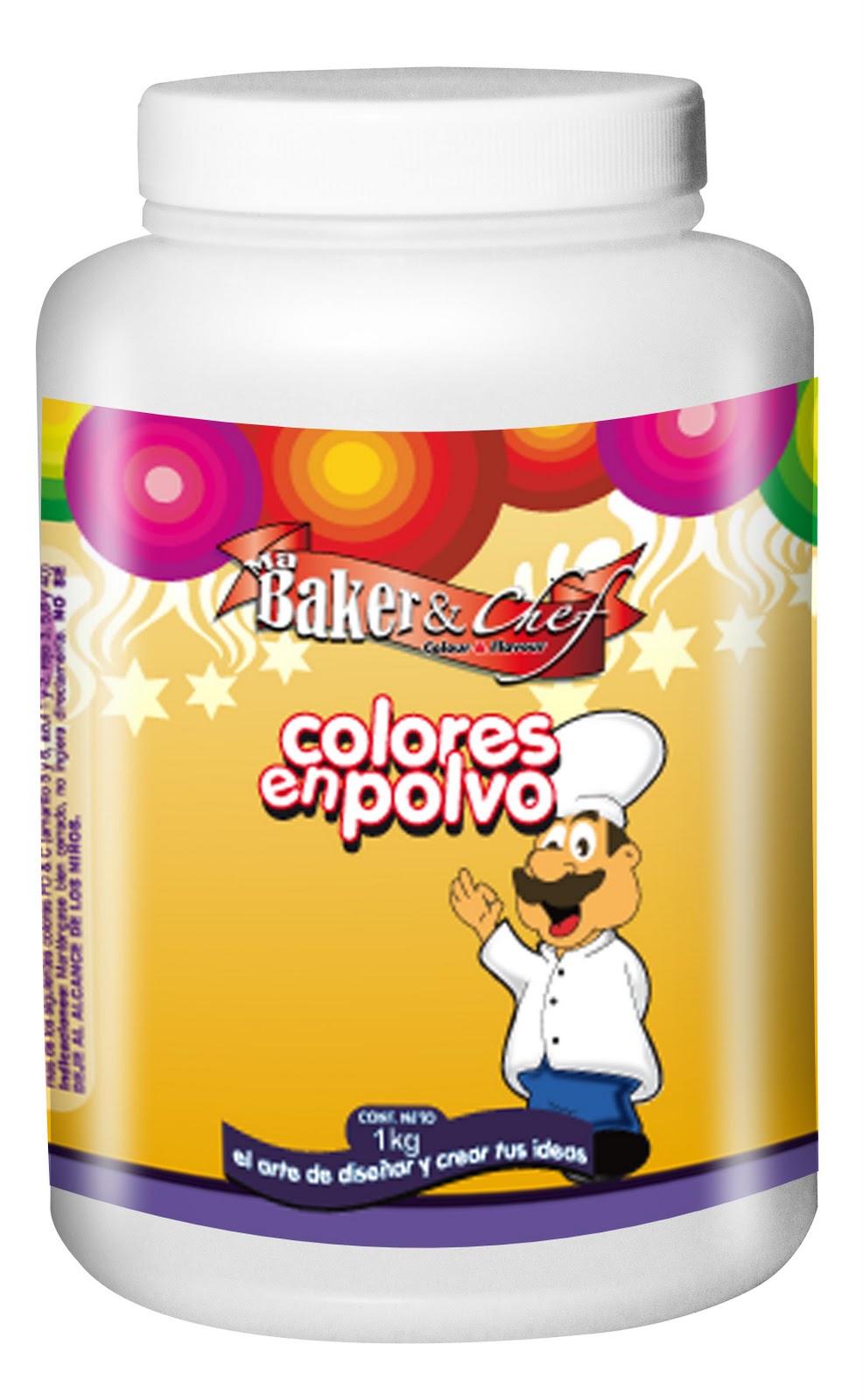Color en polvo al 12 5 y 25 de concentraci n 100 g y 1 kg ma baker and chef el lugar del - Colores para la concentracion ...