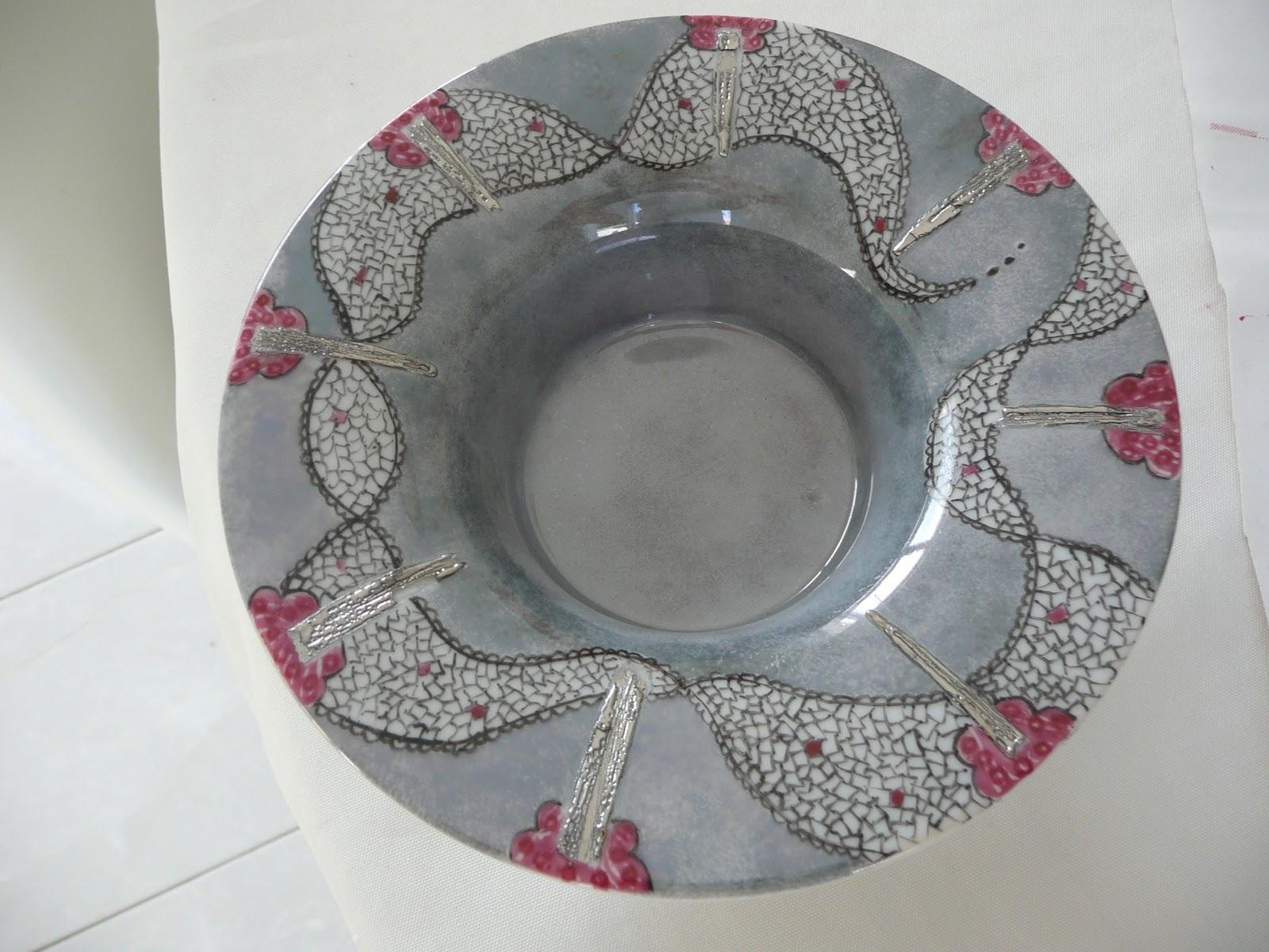 passion peinture et porcelaine bougeoir ou centre de table garnir. Black Bedroom Furniture Sets. Home Design Ideas