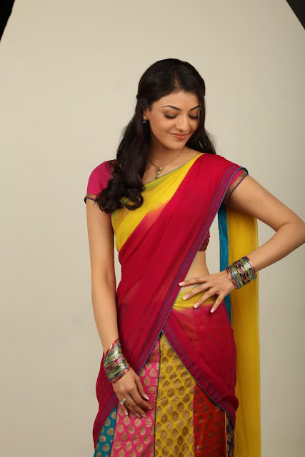 Kajal Agarwal Half Saree Photos