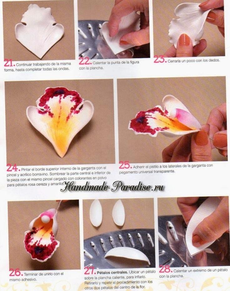 Орхидея Цимбидиум из фоамирана