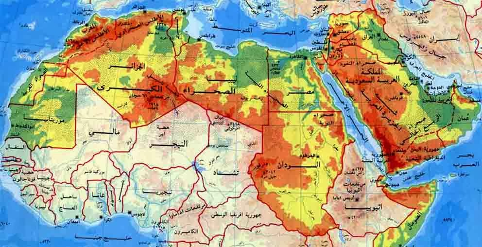 الخريطة المناخية للوطن العربى