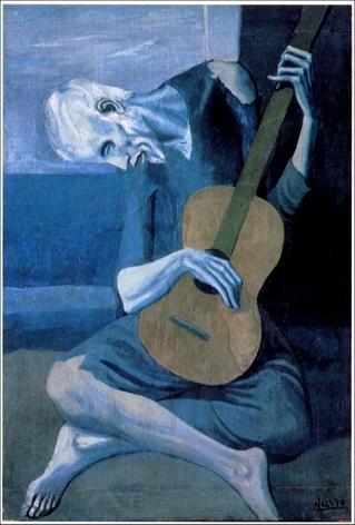 لوحة عازف الغيتارة