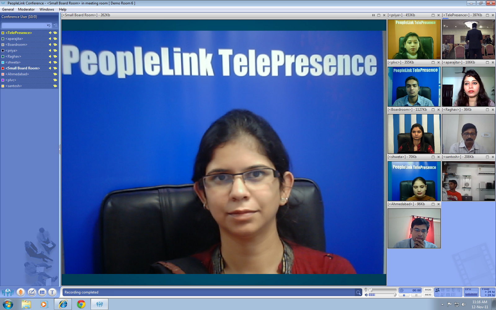 PeopleLink Multiparty VC Layout