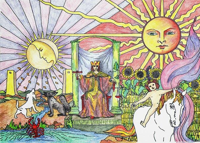 arte simbólico, laura podio, mandalas y tarot