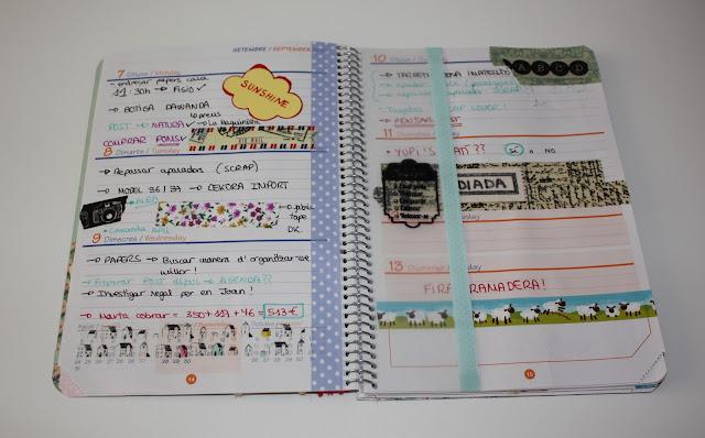 Tersi diy vuelta al cole agenda escolar con scrap - Como decorar una agenda ...