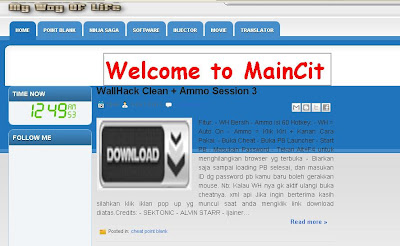 Maincit | Maincit Cheat Point Blank