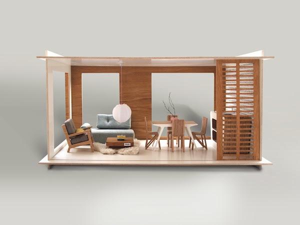 Mid-Century Design Puppenhaus - spielerisch Stil entdecken!