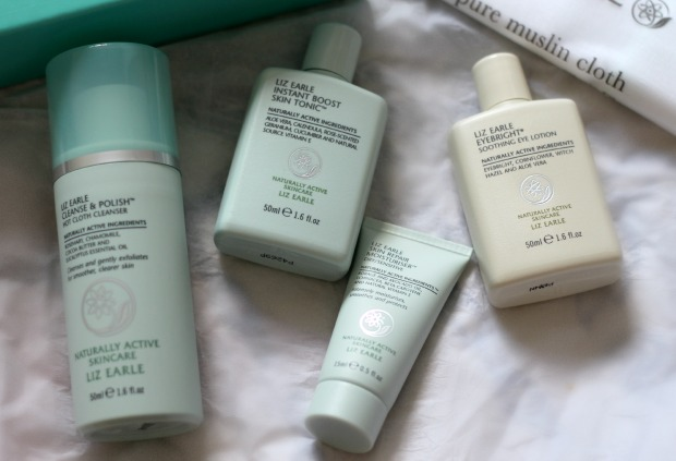beauty, cleanse and polish, dry skin, gift set, high end, john lewis, liz earle, review, skincare, test,