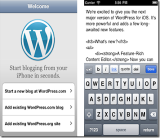 wordpress app for blogging