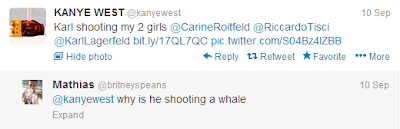 Kanye West Kim Kardashian Karl Lagerfield
