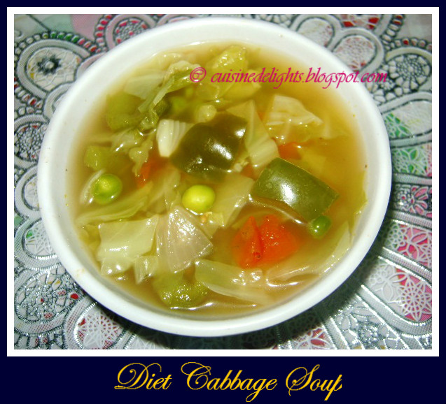 Diet cabbage soup cuisine delights i tried this recipe from sanjeev kapoors khana khazana show one of the most popular shows on zee tv this can easily served any course of meal forumfinder Gallery