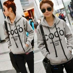 DressLink Korea Women Casual Hoodie Sweatshirt Tracksuits Tops Outerwear