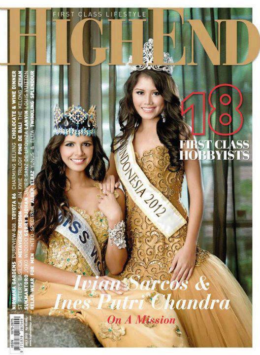 ... 2012 Ines Putri Tjiptadi Chandra (R) pose for HighEnd Magazine