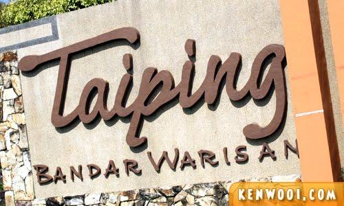 taiping signboard