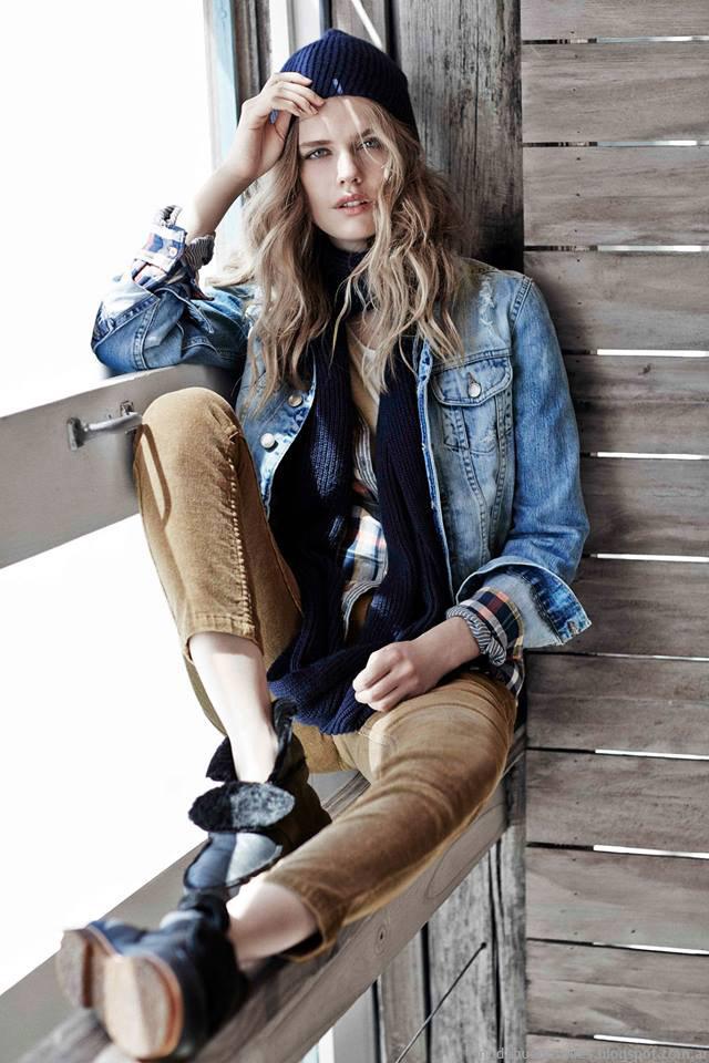 Camperas de jeans de moda invierno 2015 Paula Cahen D'Anvers.