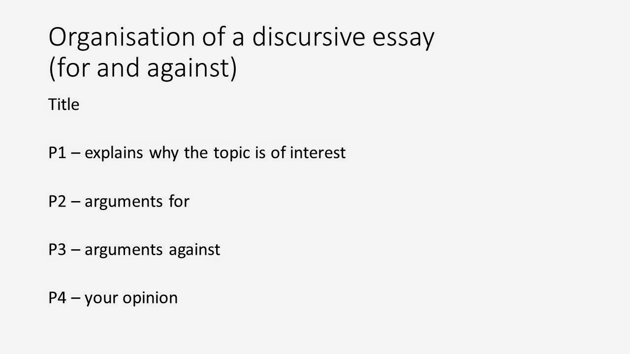 Good introduction to discursive essay?