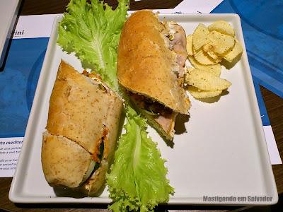 Santorini Café: Sanduíche Templo de Têmis