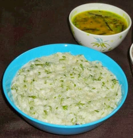 Lauki kheera raita in a serving bowl