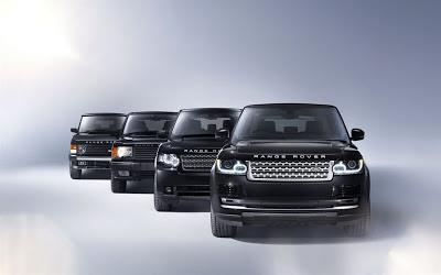 Quattro generazioni di Range Rover a confronto