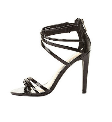 Charlotte Russe Black High Heeled Sandals