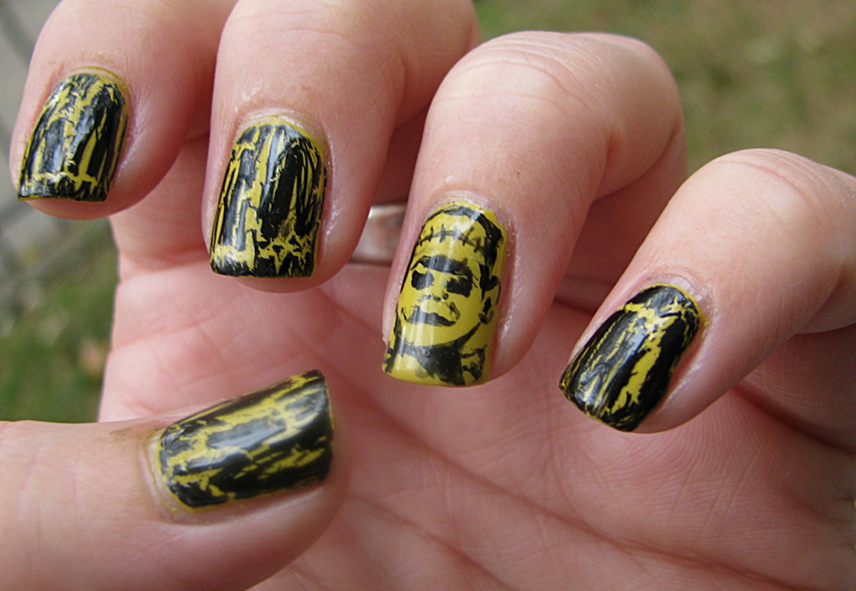Over The Top Coat: Nail-aween Challenge 6: Frankenstein Nails