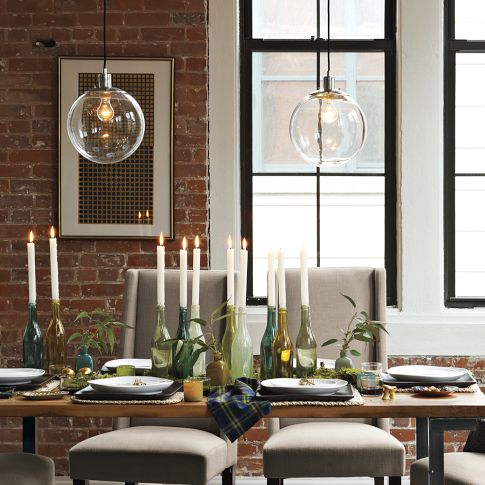 Eat sleep decorate new kitchen light west elm for Over dining table pendant lights