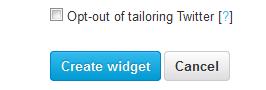 Create Widget Twitter
