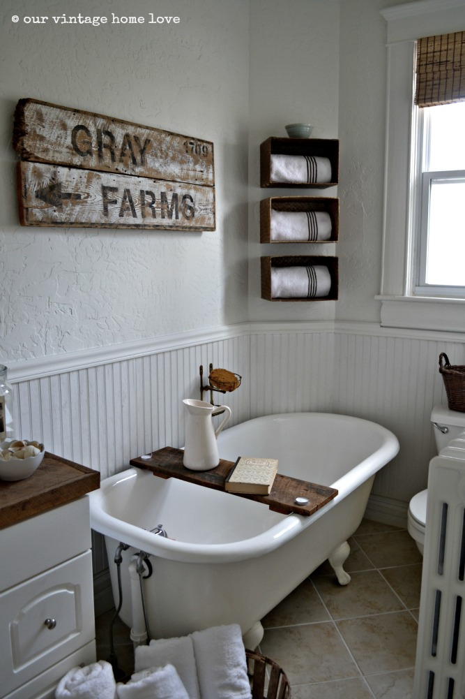 Our Vintage Home Love Farmhouse Bathroom