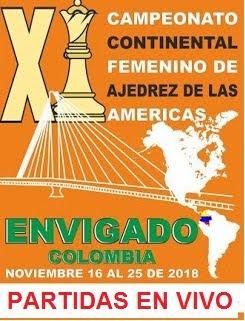 PARTIDAS EN VIVO Continental Femenino de Ajedrez 2018 (Dar clic a la imagen)