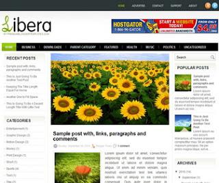 Libera Blogger Template