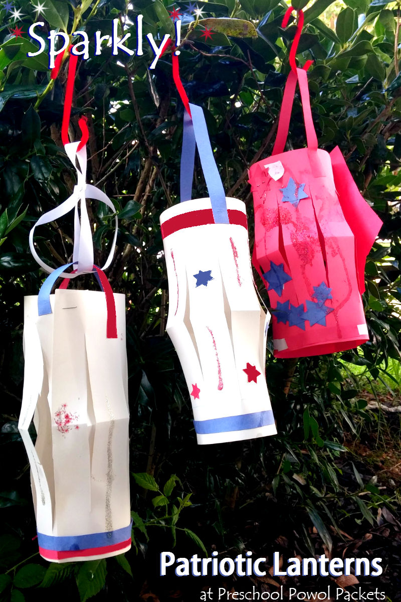 Patriotic lanterns a great 4th of july kid 39 s craft for Americana crafts to make