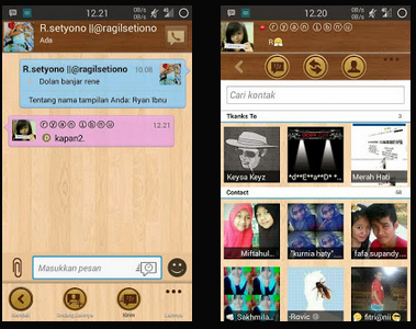 BBM Mod Theme Wood Based v2.8.0.21 Apk (HDPI Only)