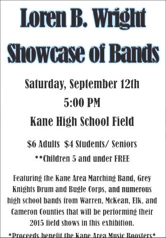 9-12 Showcase Of Bands, Kane