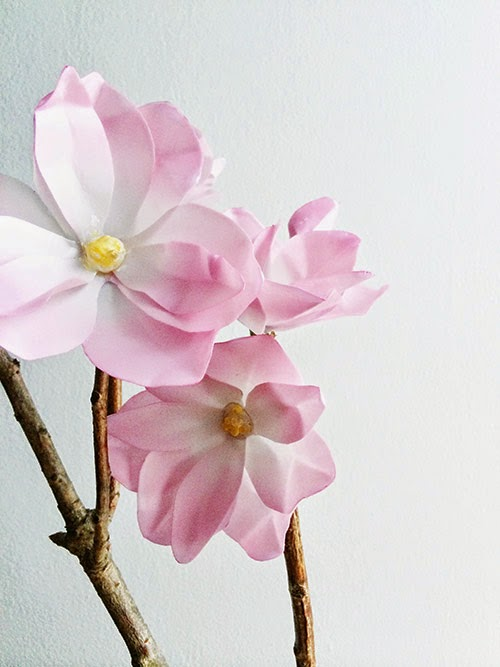 Como Hacer Magnolias de Papel, Paso a Paso