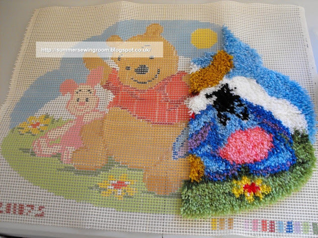 pooh latch hook rug,