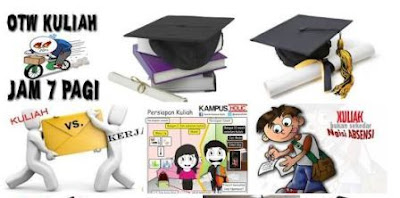 gambar mahasiswa kuliah kartun