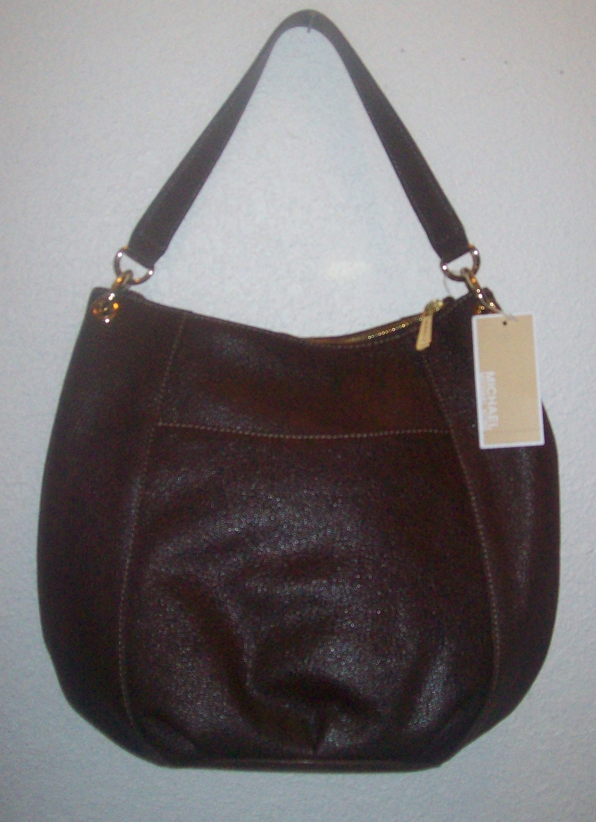 la femme sold out michael kors fulton leather hobo shoulder bag. Black Bedroom Furniture Sets. Home Design Ideas