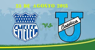 Emelec vs Universidad Católica En vivo 23-08-2015 ira por canales: Fox Sports, GamaTV, Ecuavisa