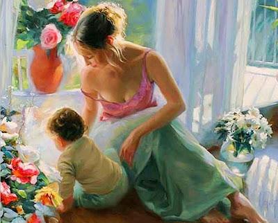 pinturas-mujeres-con-niños