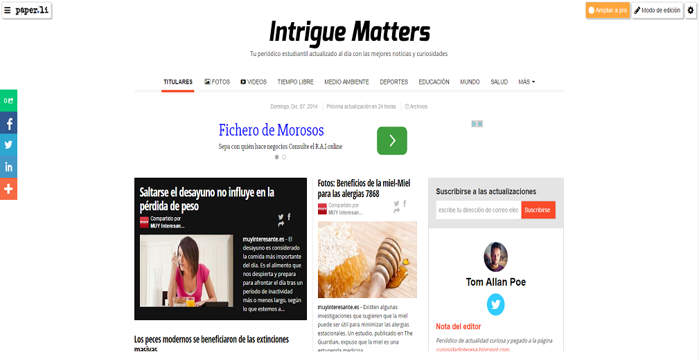 The Intrigue Matters Journal