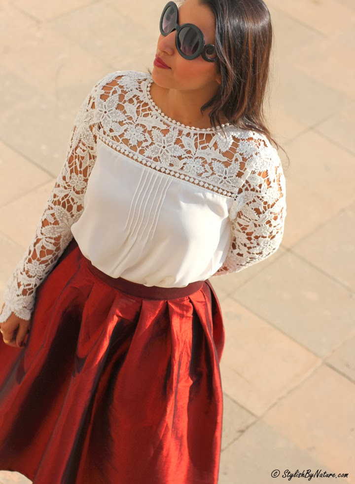 lace crochet blouse white