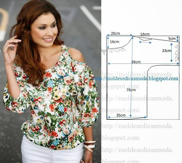 Выкройки блузок для полных женщин своими руками 1
