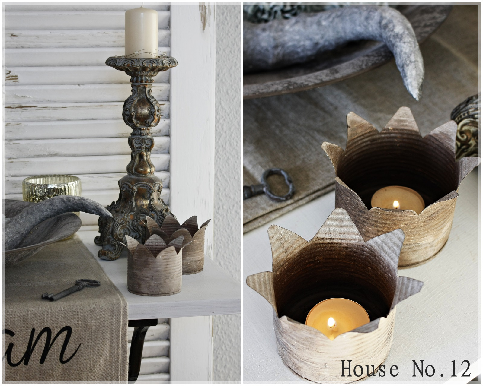 House diy kronenlichter aus konservendosen for Blechdosen basteln