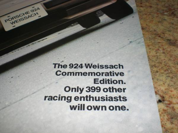 Porsche 924 Weissach Commemorative Edition