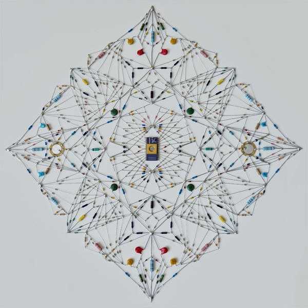 Technological Mandalas Made from Soldered electronic Components 5