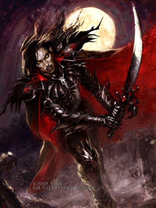 Tatiana Kirgetova  kir-tat deviantart ilustrações fantasia arte conceitual Vampiro guerreiro