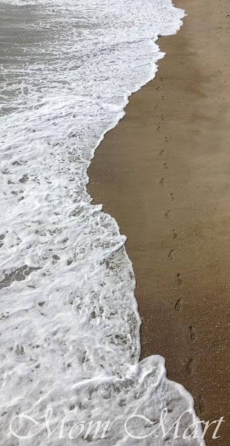 Manhattan Beach LA - foot prints in the sand