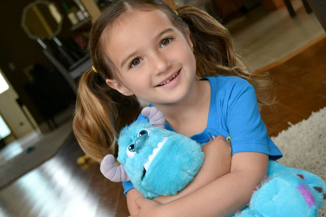 Mommy Testers Plush Sully monster Monsters University party with Juicy Juice #MUJuice #cbias